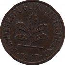 1967 J Germany 1 Pfennig