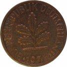 1976 D Germany 1 Pfennig