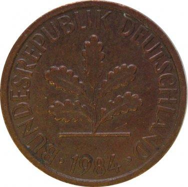1984 F Germany 1 Pfennig