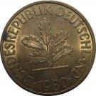 1980 D Germany 10 Pfennig