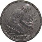 1966 D Germany 50 Pfennig