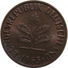1963 D Germany 2 Pfennig
