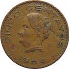 1954 Mexico 5 Centavos