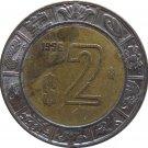 1996 Mexico 2 Peso's