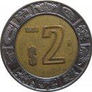 1998 Mexico 2 Peso's