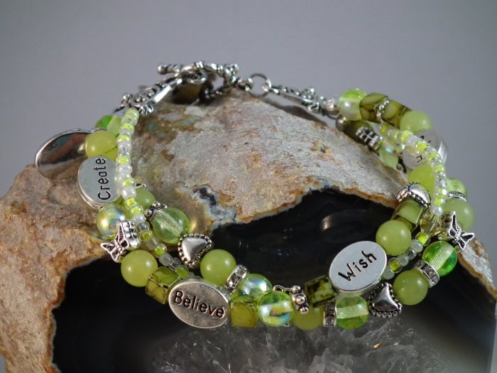 Lemon Jade Triple Bracelet