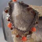 Coral, JasperCharm Bracelet