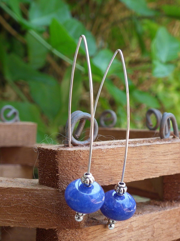 *SOLD* Blue Jade Earrings