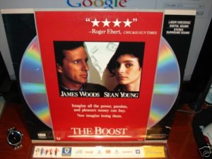 Laserdisc THE BOOST 1988 James Wood Sean Young FS LD