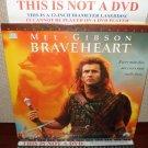 Laserdisc BRAVEHEART 1995 Mel Gibson Lot#6 LTBX THX Movie [LDLV33118-2WS]