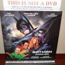 Laserdisc BATMAN FOREVER 1995 Val Kilmer Lot#4 LTBX LD