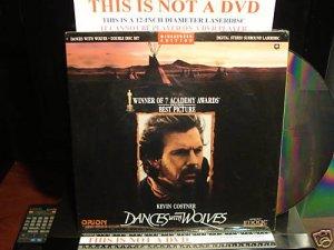 Laserdisc DANCES WITH WOLVES 1990 Kevin Costner Lot#8 LTBX SEALED UNOPENED LD