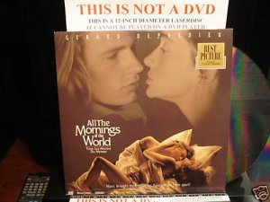 Laserdisc ALL THE MORNINGS OF THE WORLD 1993 FS French w/English Subtitles LD