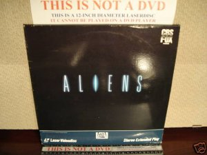 Laserdisc ALIENS 1986 Sigourney Weaver Lot#6 FS James Cameron Sci-Fi LD Movie [1504-80]