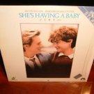 Laserdisc SHE'S HAVING A BABY 1988 Kevin Bacon Lot#2 FS LD