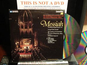 LD Music Video MESSIAH FOUNDLING HOSPITAL VERSION 1754 Lot#2 Frideric Handel Laserdisc [PA-86-174]