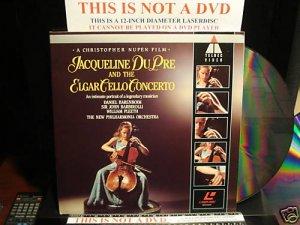 LD Music Video JACQUELINE DU PRE AND THE ELGAR CELLO CONCERTO 1982 Laserdisc [2292-46240-6]