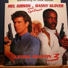 Laserdisc LETHAL WEAPON 3 1992 Mel Gibson Lot#3 LTBX LD