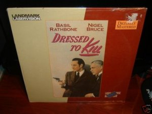 Laserdisc DRESSED TO KILL (1946) Basil Rathbone Lot#2 SEALED UNOPENED LD