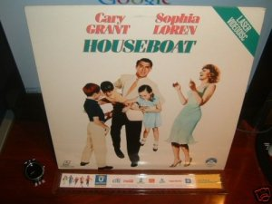 Laserdisc HOUSEBOAT (1958) Cary Grant FS Classic LD