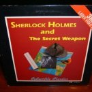Laserdisc SHERLOCK HOLMES & THE SECRET WEAPON (1943) Basil Rathbone Lot#3 FS Cassic LD