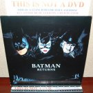 Laserdisc BATMAN RETURNS 1992 Michael Keaton Lot#8 LTBX LD Movie [15000]