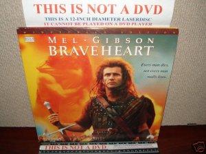 Laserdisc BRAVEHEART 1995 Mel Gibson Lot#5 LTBX THX Movie [LDLV33118-2WS]