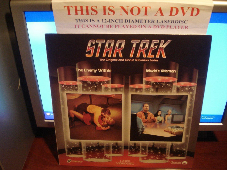 Laserdisc STAR TREK TOS EPISODES 5 & 4: THE ENEMY WITHIN / MUDD'S WOMEN (1966) LD
