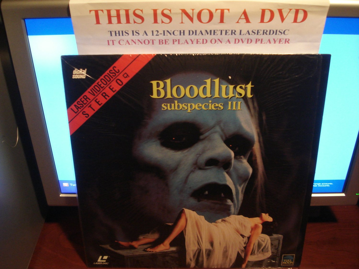 Laserdisc SUBSPECIES III: BLOODLUST 1993 Full Moon Entertainment FS Rare Horror LD
