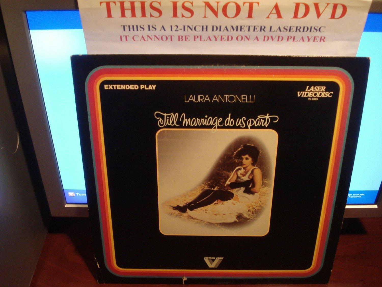 Laserdisc TILL MARRIAGE DO US PART (1979) Laura Antonelli FS Rare Classic LD