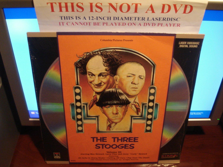 Laserdisc THE THREE STOOGES: VOLUME III 1982 Moe Howard FS LD