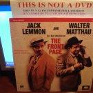 Laserdisc THE FRONT PAGE (1974) Jack Lemmon Walter Matthau FS Classic LD
