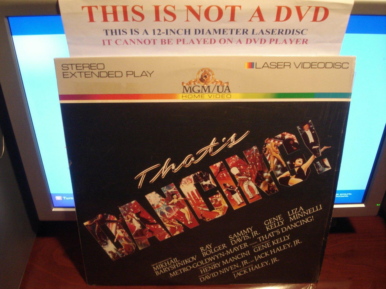 Laserdisc THAT'S DANCING 1985 Mikhail Baryshnikov FS LD