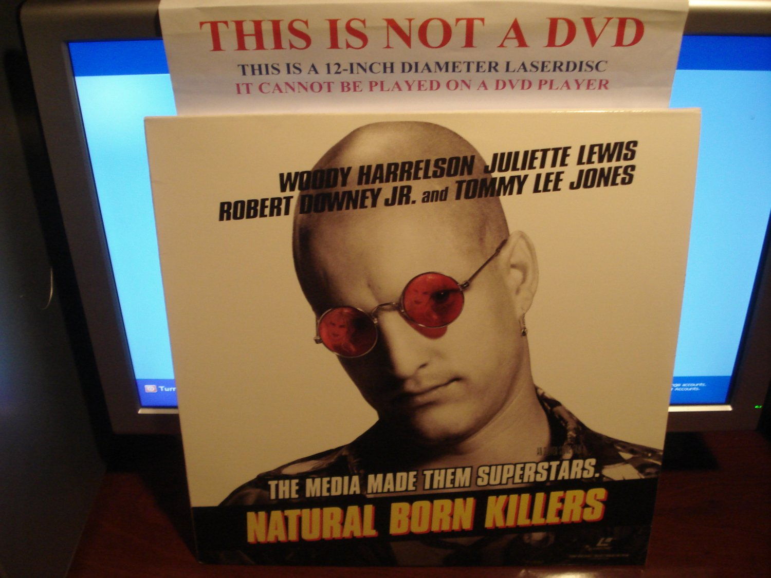 Laserdisc NATURAL BORN KILLERS 1994 Oliver Stone Lot#2 LTBX LD