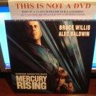 Laserdisc MERCURY RISING 1998 Bruce Willis Alec Baldwin LTBX Rare LD