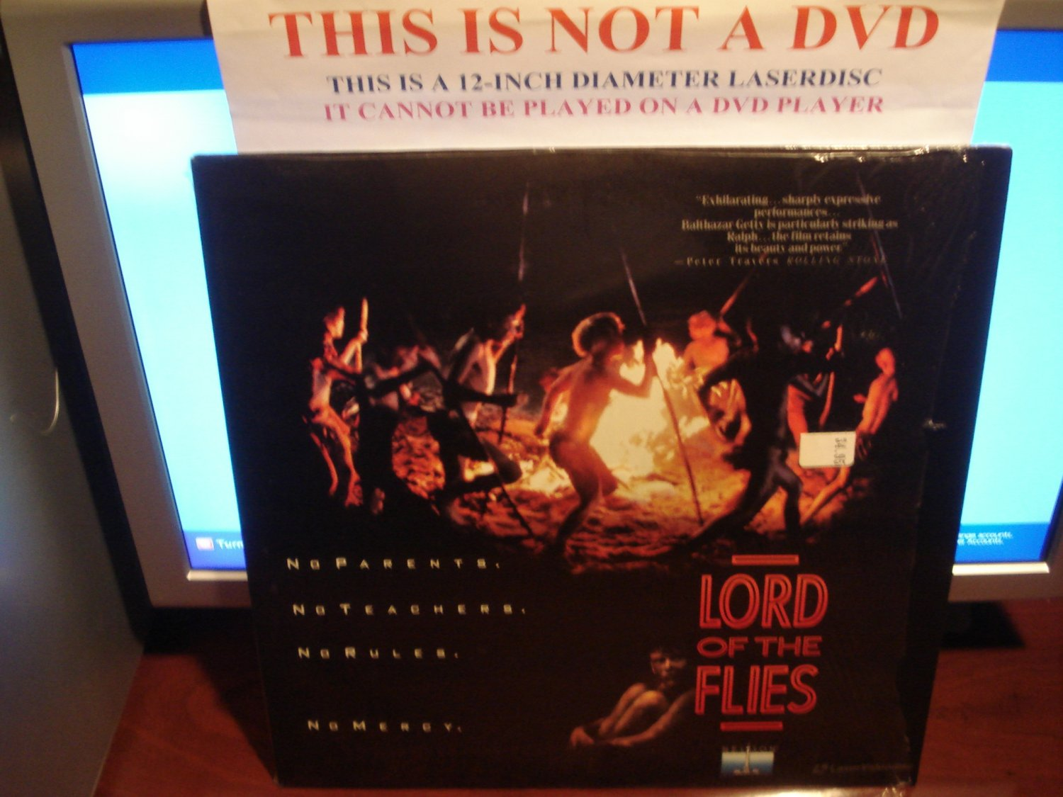 Laserdisc LORD OF THE FLIES 1990 Balthazar Getty Lot#2 FS LD