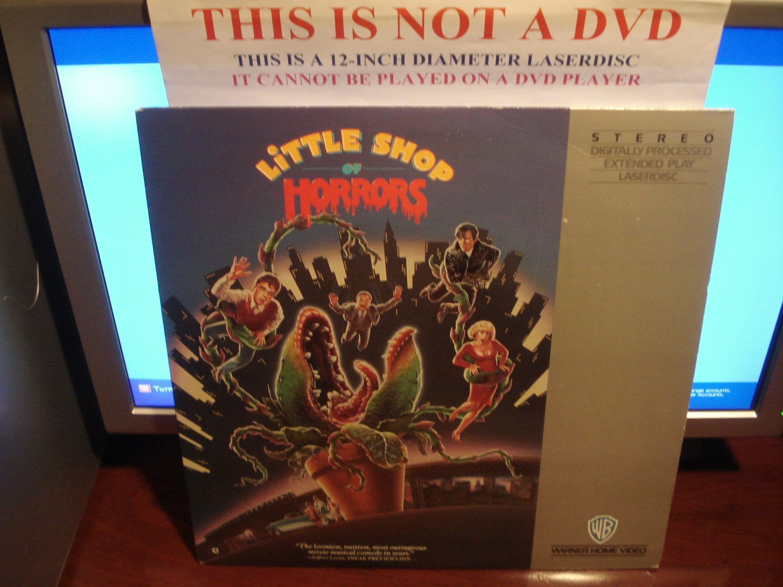 Laserdisc LITTLE SHOP OF HORRORS 1986 Rick Moranis Lot#2 FS LD Movie [11702]