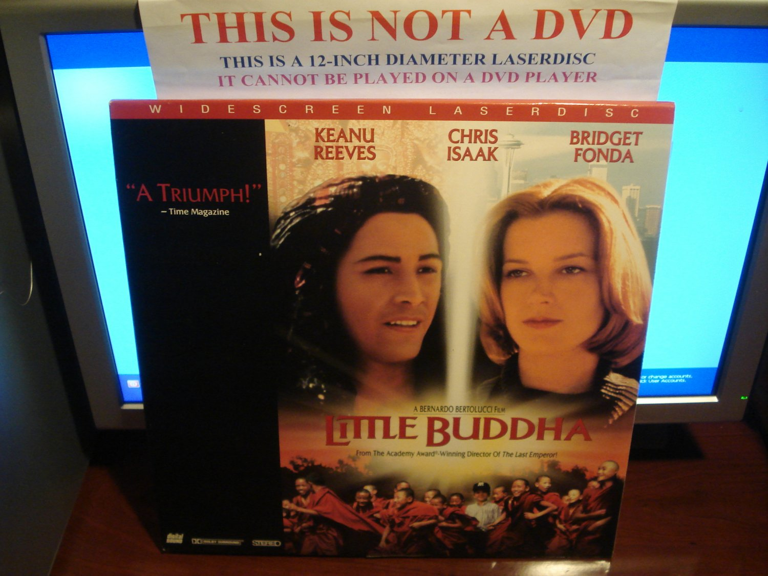 Laserdisc LITTLE BUDDHA 1994 Keanue Reeves Lot#2 LTBX LD Movie [2548AS]