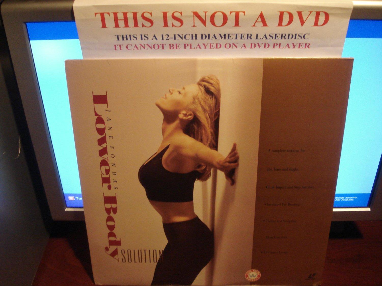 Laserdisc JANE FONDA'S LOWER BODY SOLUTION 1991 Fitness Exercise SEALED LD Video [LV32836-WS]