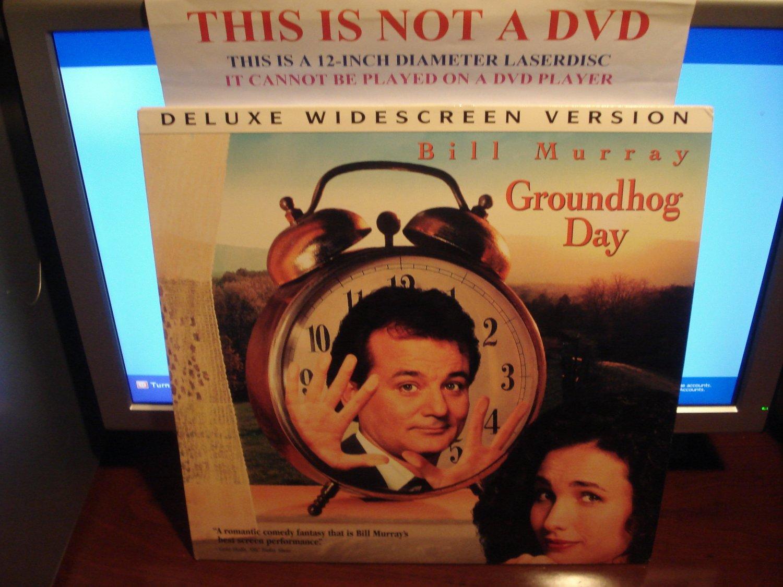 Laserdisc GROUNDHOG DAY 1993 Bill Murray Lot#8 DLX LTBX LD Movie [52296]