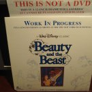 LD Disney BEAUTY AND THE BEAST: WORK IN PROGRESS 1990 Lot#17 CAV LTBX Laserdisc Movie [1591CS]