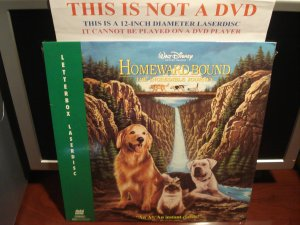 LD Disney HOMEWARD BOUND: THE INCREDIBLE JOURNEY 1993 Lot#3 LTBX Walt's Laserdisc [1801 AS]