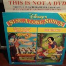 LD Disney SING ALONG SONGS ZIP-A-DEE-DOO-DAH & HEIGH HO 1990 Music Video Laserdisc [588 AS]