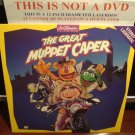 LD Animation THE GREAT MUPPET CAPER 1981 Jim Henson Kermit Miss Piggy Laserdisc Video [1603 AS]