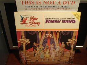 LD Disney THE ONE AND ONLY, GENUINE, ORIGINAL FAMILY BAND (1968) Musicals Laserdisc Video [30 AS]