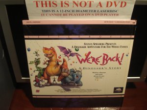 LD Children WE'RE BACK: A DINOSAUR STORY 1993 Steven Spielberg Jay Leno LTBX Laserdisc Movie [41907]