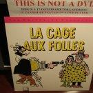 LD Criterion LA CAGE AUX FOLLES (1979) Ugo Tognazzi Lot#1 French w/ST CLV Laserdisc [CC1274L / 96]