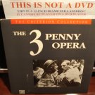 LD Criterion THE 3 PENNY OPERA (1931) Germany w/English Translation CLV Laserdisc [CC1139L Spine 39]