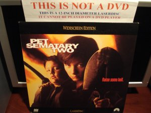 Laserdisc PET SEMATARY TWO 1991 Edward Furlong LTBX Horror Terror LD Movie [LV 32747-WS]