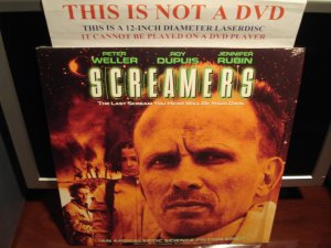Laserdisc SCREAMERS 1996 Peter Weller (Robocop) FS Sci-Fi Rare Futuristic Terror LD Movie [11806]